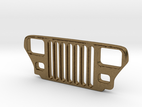 Jeep YJ Grill Keychain in Natural Bronze