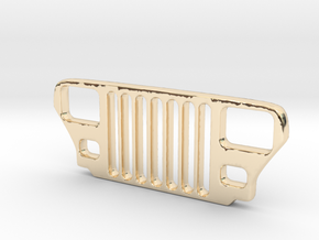 Jeep YJ Grill Keychain in 14K Yellow Gold