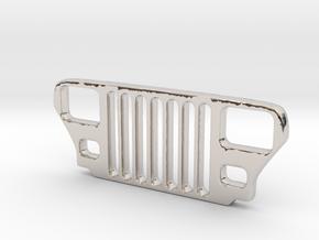 Jeep YJ Grill Keychain in Platinum