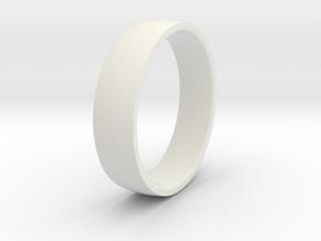 Comfortable men's ring in White Premium Versatile Plastic