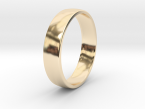 Outer ring for DIY bicolor ring in 14k Gold Plated Brass