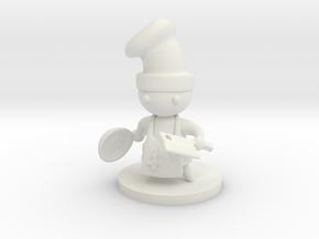 Battle Chef in White Premium Strong & Flexible