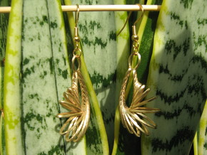 Twenty Moebius Earrings in Natural Brass