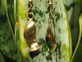Cubic 1 Earrings in Raw Bronze