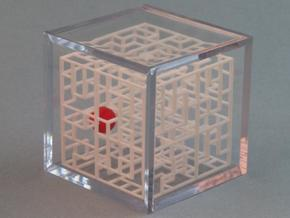 Escher's Playground 3D Maze Cube in White Strong & Flexible