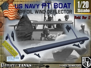 1/20 PT Boat Airfoil Wind Deflector Set001 in Smooth Fine Detail Plastic