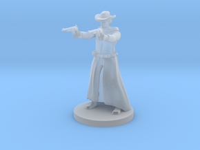 Human Gunslinger - Two Pistols Male in Smooth Fine Detail Plastic