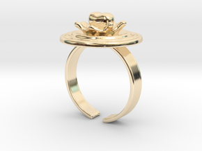 """""""Impact of Love"""" 19.8mm US 10, Japan 20 in 14k Gold Plated Brass"""