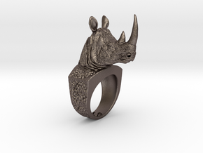 Rhino Ring in Stainless Steel: 7 / 54