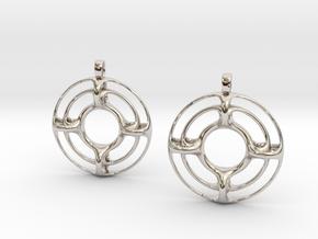 RecYy Earrings in Rhodium Plated Brass