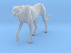 Cheetah 1:12 Walking Male 3 in Smooth Fine Detail Plastic