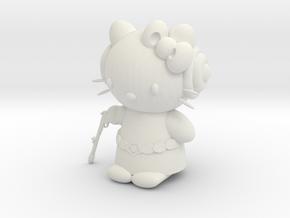 "3"" Hello Princess Figure in White Premium Strong & Flexible"