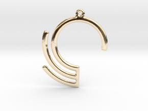 Geometric data pendant or earrings in 14K Yellow Gold