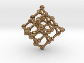 Diamond Molecule Necklace in Natural Brass