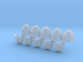Fire Dragons Shoulder Pad Mk7/8 L x10 in Smooth Fine Detail Plastic