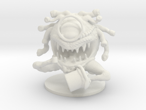 Gentleman Beholder (Large Aberration) in White Natural Versatile Plastic