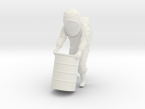 Hazmat Suit / Barrel / 1:32 in White Natural Versatile Plastic