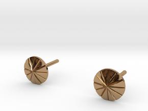 Perno Orecchino Concentrico - Concentricity  Stud  in Polished Brass