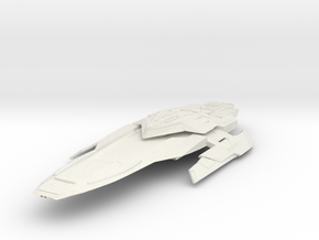 Federation Sword Class  HvyCruiser in White Natural Versatile Plastic