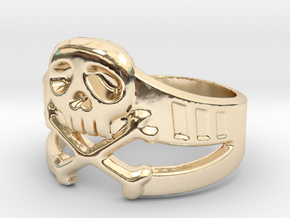 Space Captain Harlock | Ring Size 10.5 in 14k Gold Plated Brass
