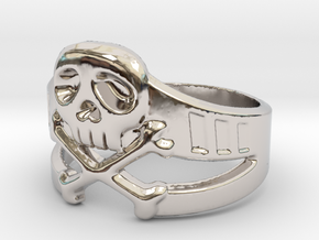 Space Captain Harlock | Ring Size 10.5 in Rhodium Plated Brass