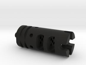 AR15 Flash Hider Tritium Keychain in Black Natural Versatile Plastic
