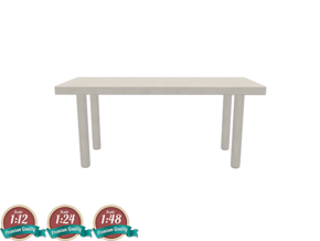 Miniature IKEA Stockholm Ash Table - IKEA in White Strong & Flexible: 1:24