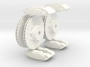 Calipers 1/8 and Rotors V4 in White Strong & Flexible Polished