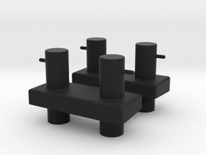 Bollard Aftdeck (2pcs) in Black Natural Versatile Plastic