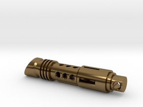 lightsaber tritium keychain in Polished Bronze