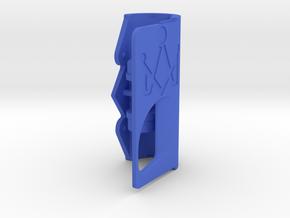 Door with token in Blue Processed Versatile Plastic