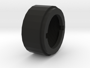M4 Barrel Nut in Black Natural Versatile Plastic
