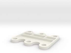 1/10 Scale Diff Tray in White Natural Versatile Plastic