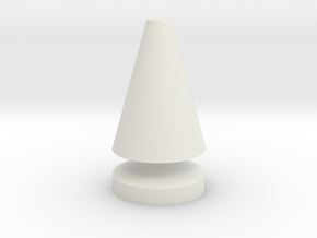 Flat Top Tree Spike in White Natural Versatile Plastic