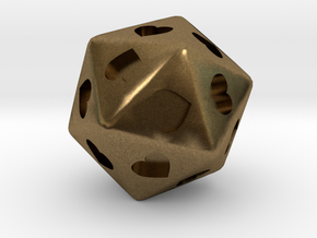 d20 Hearts in Natural Bronze