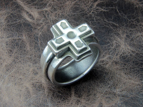 Ring of the gamer in Polished Silver