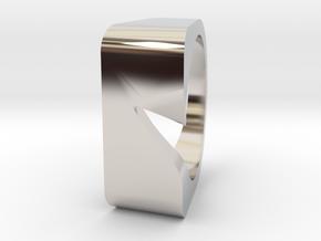 ZIGZAG Seam Ripper Ring in Rhodium Plated Brass