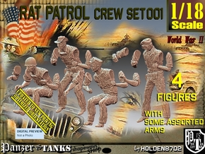 1/18 Rat Patrol Set001 in White Natural Versatile Plastic