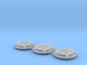 28mm/32mm Demon Summoning Circles (set of three)  in Smooth Fine Detail Plastic
