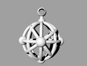 Sphere Pendant in White Strong & Flexible