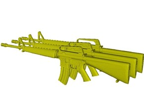 1/16 scale Colt M-16A1 rifles w 30rnds mag x 3 in Smooth Fine Detail Plastic