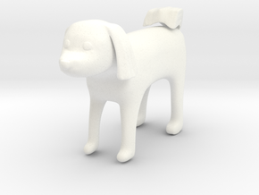 Standing dog2 in White Processed Versatile Plastic