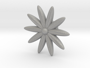 Hole Plug 0001 - flower in Aluminum