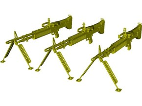 1/18 scale Saco Defense M-60 machineguns x 3 in Smooth Fine Detail Plastic