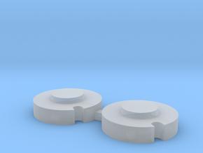 John Deere 110 Rear Single Notch Wheel Weights in Smoothest Fine Detail Plastic