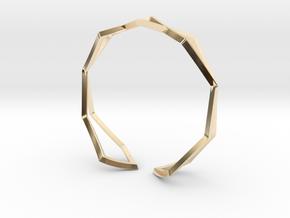 HIDDEN HEART Sharp M, Bracelet in 14k Gold Plated Brass: Medium