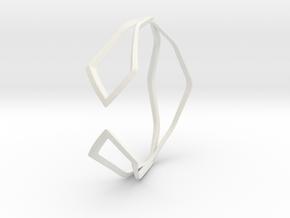 HIDDEN HEART Sharp, Bracelet. in White Premium Versatile Plastic: Extra Small
