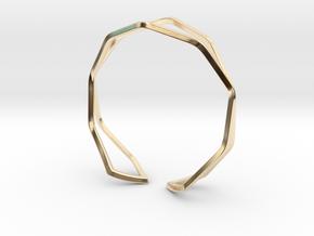 HIDDEN HEART Sharp, Bracelet. in 14K Yellow Gold: Medium