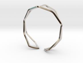 HIDDEN HEART Sharp, Bracelet. in Rhodium Plated Brass: Medium