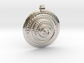 Fractal Round Pendant in Platinum